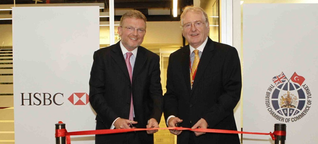 Chris Gaunt and Martin Spurling at the opening of the new British business centre in Istanbul