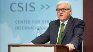 Steinmeier speaking at the Centre for Strategic and International Studies (CSIS)