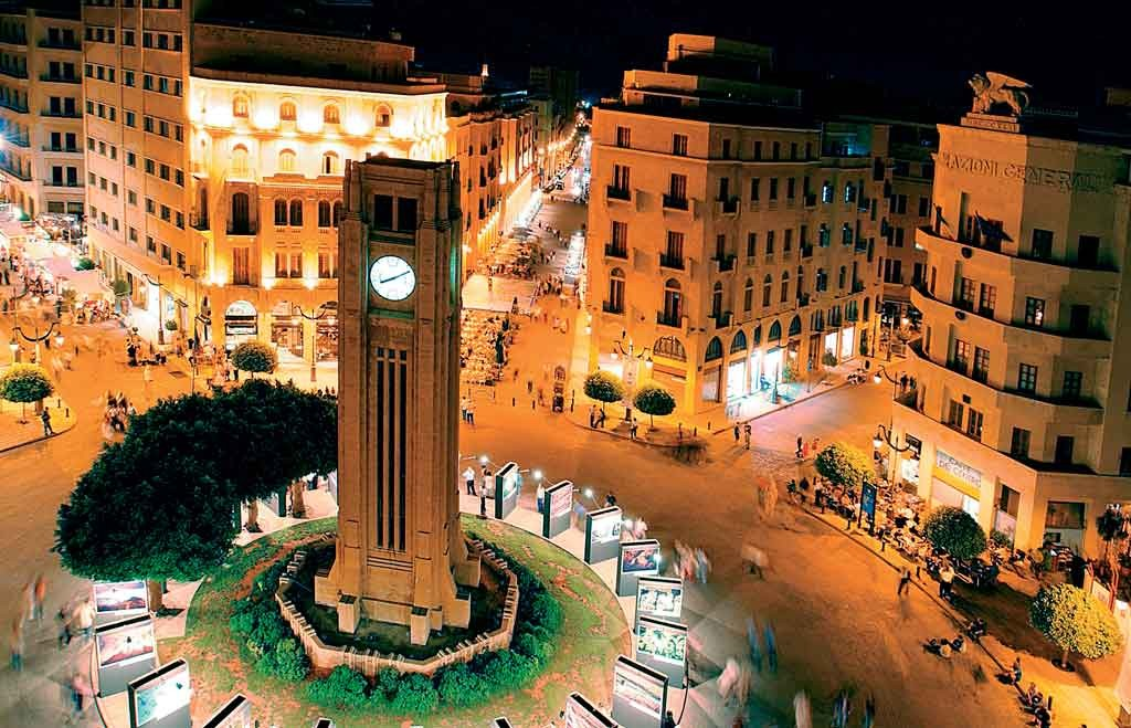 Central Beirut at dusk. Archival photo AFIS