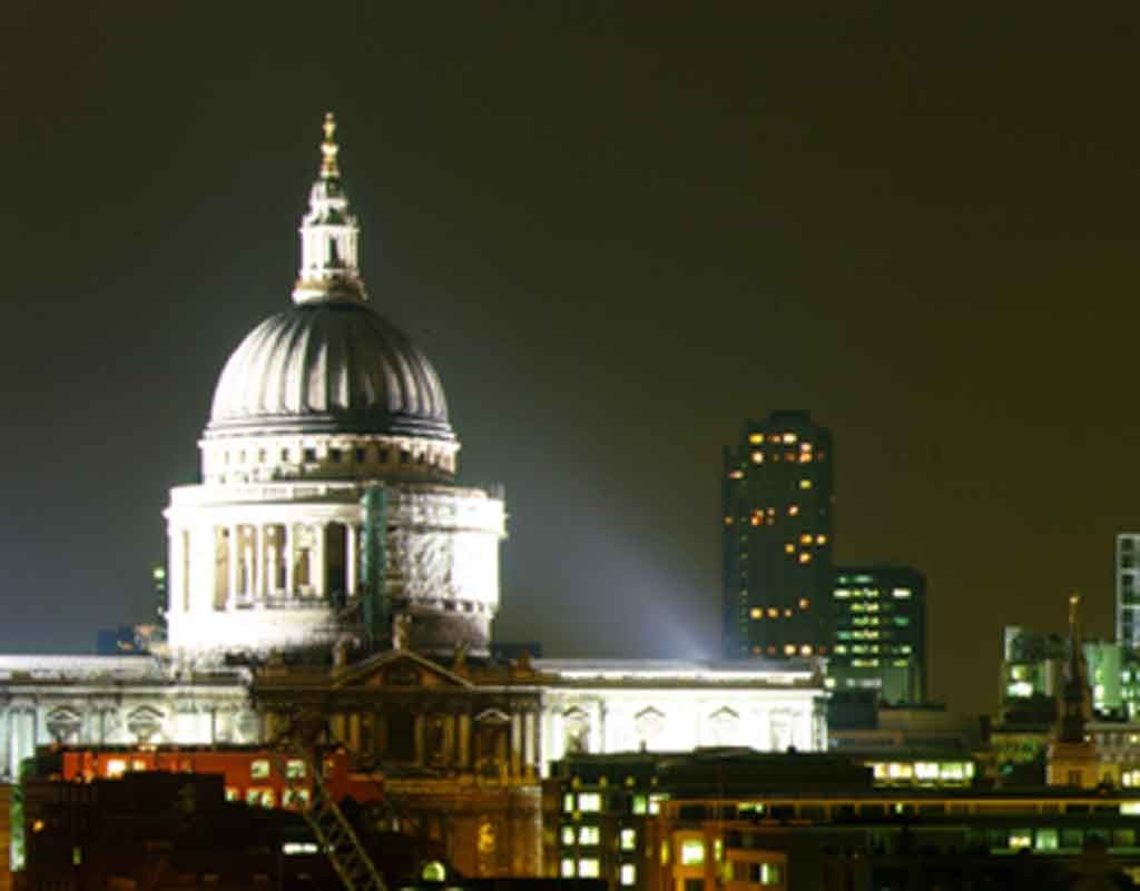 St Paul's and the City at night
