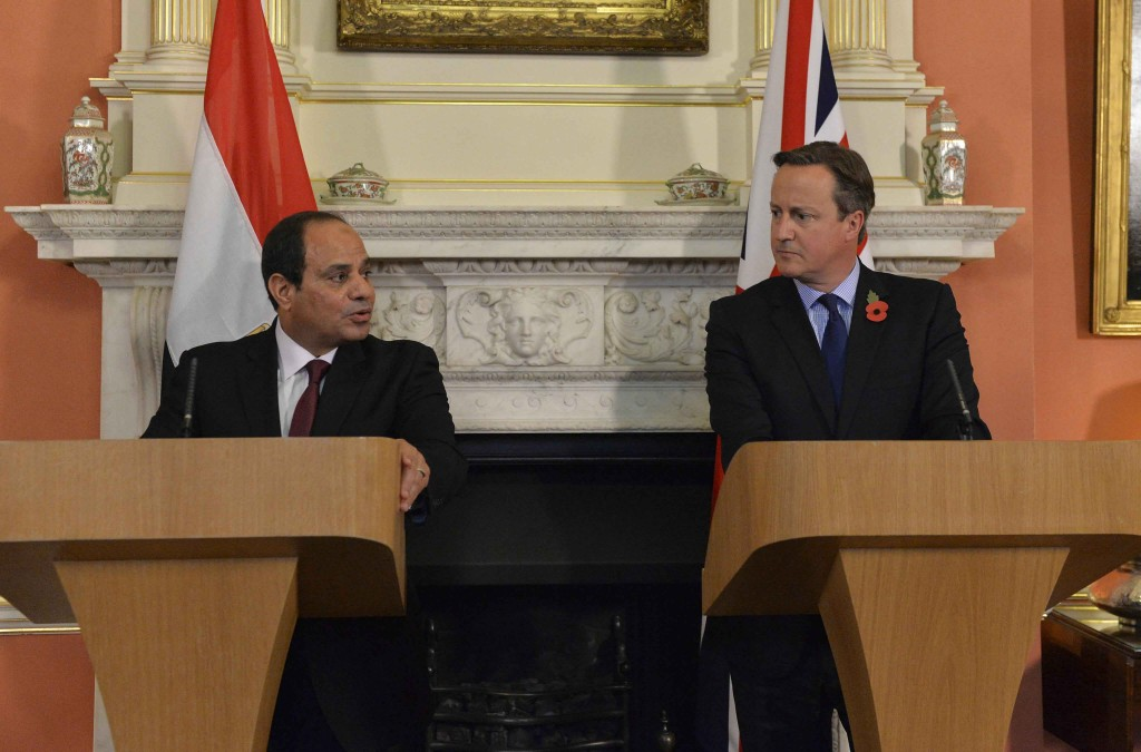 British Prime Minister David Cameron and President El-Sisi hold a press conference in Downing Street, 5 November 2015. Photo: Georgina Coupe, Crown Copyright