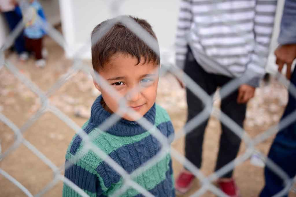 Refugee child in Greek detention at Chios. Photo by Tiril Skarstein/Norwegian Refugee Council via Norwegian Refugee Council, Oxfam and SolidarityNow