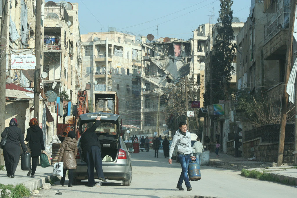 Destruction in Salah Ed Din neighbourhood of Aleppo, Syria. Photo: OCHA/Josephine Guerrero