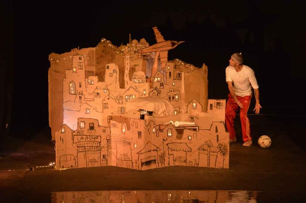 Arab Puppet Theatre Foundation in performance, but not as we know puppet theatre. Photo: Lama Chidiac